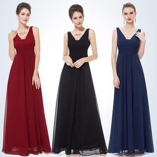ecba3ab414a Evanese Women s Elegant Slip-on Long Formal Evening Party Dress with Empire  Waist Full Skirt and Short Sleeves. 4.6 of 5 Review Stars. 31. 776. Quick  View
