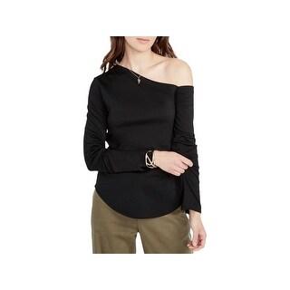 Rachel Rachel Roy Womens Pullover Top One Shoulder Long Sleeves