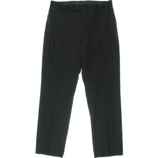 Calvin Klein Mens Solid Flat Front Dress Pants