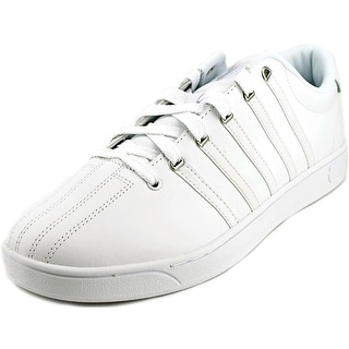 K-Swiss Court Pro II CMF Men Round Toe Leather White Sneakers
