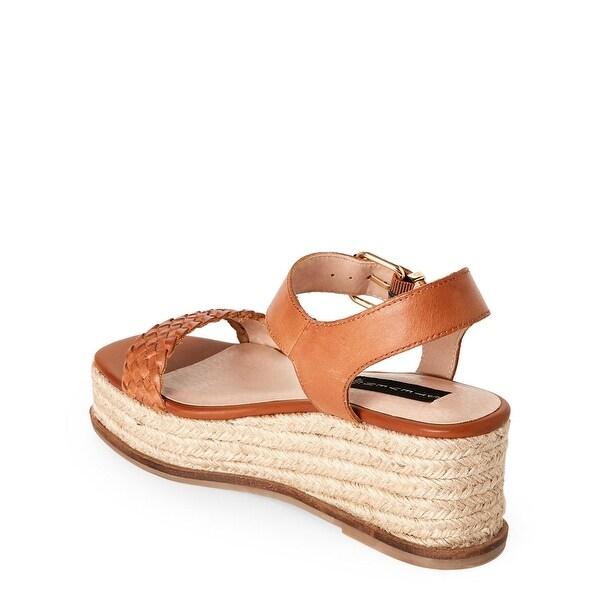 STEVEN by Steve Madden Womens sabble Leather Open Toe Casual Platform Sandals