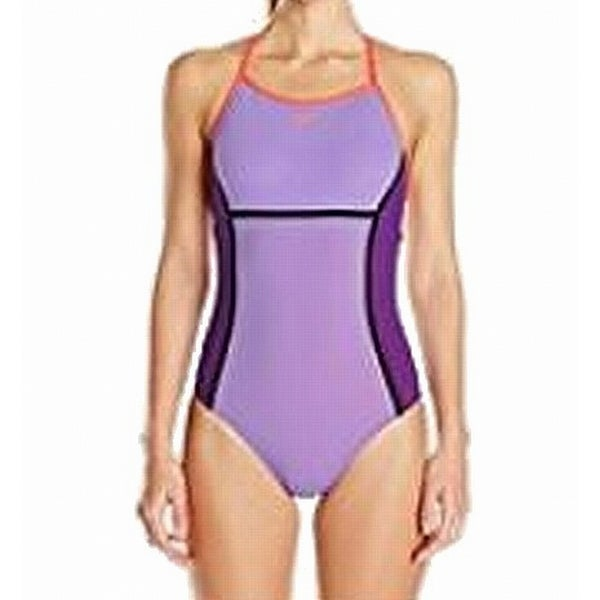 0de71a7694 Shop Speedo Purple Womens 14 Endurance Lite Perforated One-Piece Swimsuit -  Free Shipping On Orders Over $45 - Overstock - 27022927