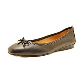 Vince Camuto Ria Women Round Toe Leather Black Flats
