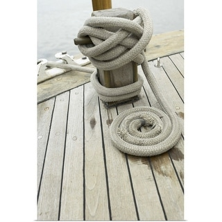 """""""Rope on a dock"""" Poster Print"""