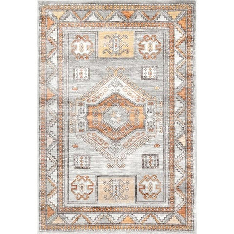 The Curated Nomad McLaren Orange Vintage Pyramid Tribal Area Rug