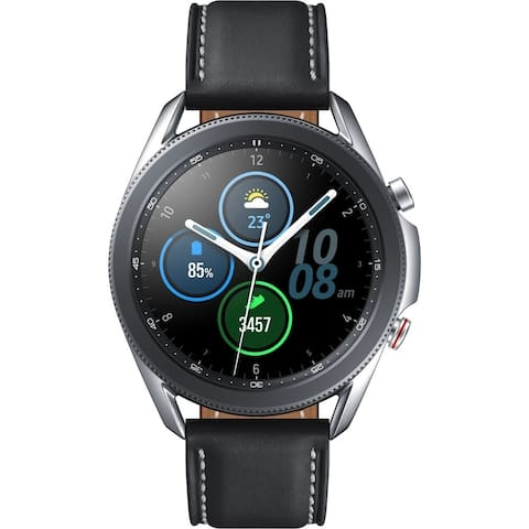 Samsung Galaxy Watch3 GPS Smartwatch (Bluetooth/LTE, 45mm, Mystic Silver) (Certified Refurbished)