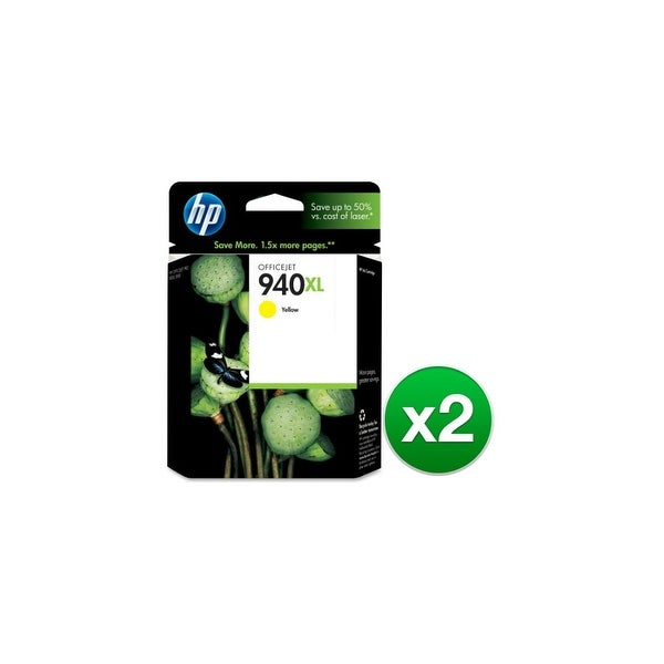 HP 940XL High Yield Yellow Original Ink Cartridge (C4909AN) (2-Pack)