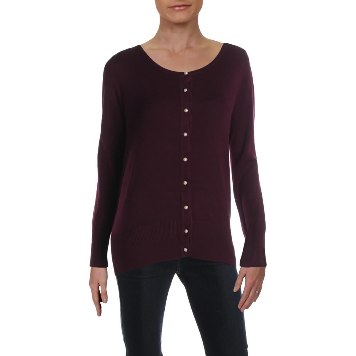 Vila Milano Womens Cardigan Sweater Embellished Long Sleeve
