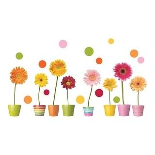 Brewster CR-64003 Gerberas Flowers Window Decals - Gerberas Flowers - N/A