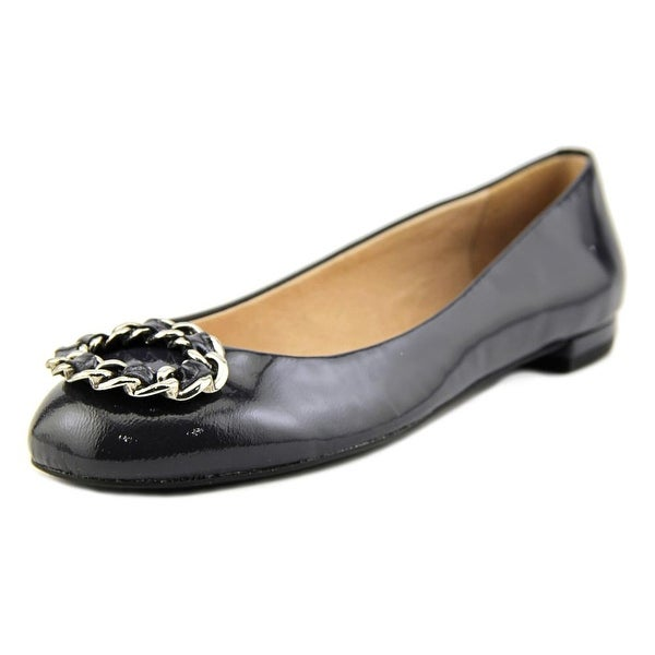 Nina Merit-S Women Round Toe Patent Leather Flats