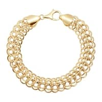 Eternity Gold Interlocking Chain Bracelet in 14K Gold - Yellow