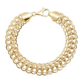 Just Gold Interlocking Chain Bracelet in 14K Gold