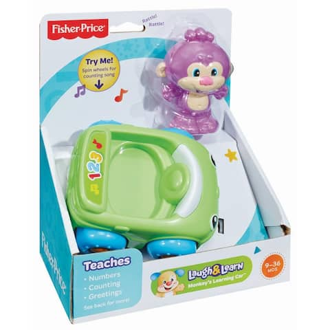 Fisher-Price Laugh & Learn Monkey's Learning Car - Green