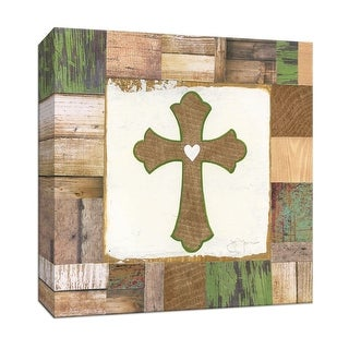 "PTM Images 9-147421  PTM Canvas Collection 12"" x 12"" - ""The Cross"" Giclee Christian Art Print on Canvas"