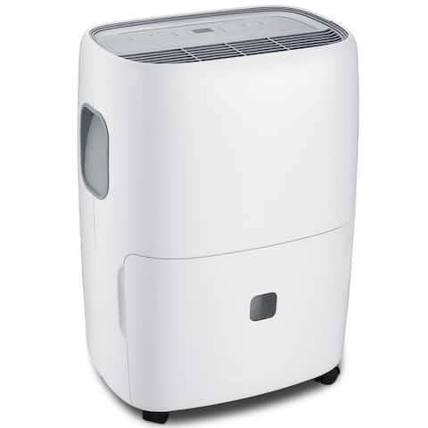 Costway Portable 30 Pint Dehumidifier Humidity Control with Casters Washable Air Filter