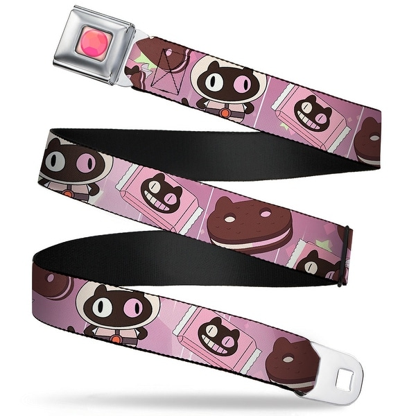 Steven Universe Rose Quartz Gem Full Color Pinks Cookie Cat Pose Sandwich Seatbelt Belt