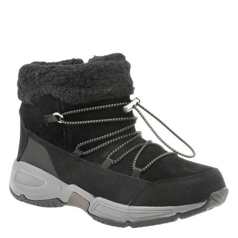 Easy Spirit Womens Voyage Faux Fur Round Toe Ankle Cold Weather Boots