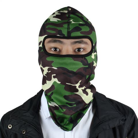 Outdoor Lycra Camouflage Style Balaclava Full Face Mask Hood Neck Hat Cap