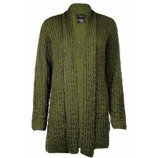 Sutton Studio Womens Wave No Close Front Long Cardigan - m
