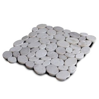 Miseno MT-C3RWH Wheel Stone Mosaic Natural Stone Tile (9.68 SF / Carton)