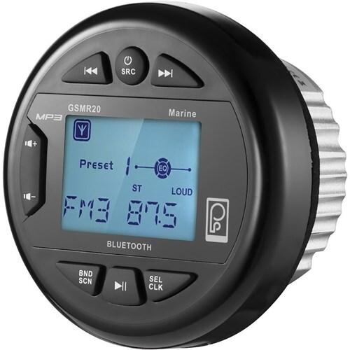 """PolyPlanar AM/FM Bluetooth Gauge Series Marine Radio Poly-Planar GSMR20 AM/FM Bluetooth Gauge Series Marine Radio"""