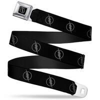 Reverse Flash Logo Full Color Black Gray Reverse Flash Logo Black Gray Seatbelt Belt
