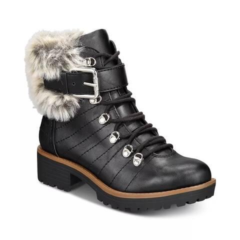 Sun + Stone Women's Jojo Cold-Weather Lug Sole Boots Black Size 6 M