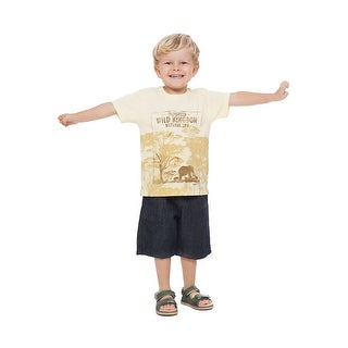 Toddler Boy Outfit Graphic T-Shirt and Denim Shorts Set Pulla Bulla 1-3 Years