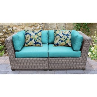 Miseno MPF-FLR02A Northern Italy 29 Inch Tall Two Piece Wicker Outdoor Seating Set