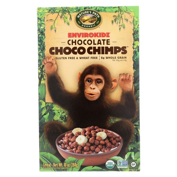Envirokidz Organic Cereal - Choco Chimps - Case of 12 - 10 oz.