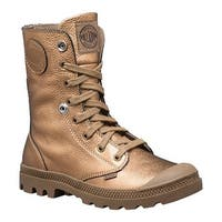 Palladium Women's Baggy Metallic Leather Boot Bronze/Butternut