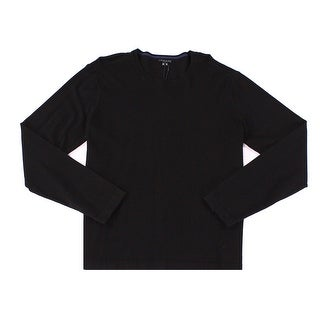 Theory NEW Black Mens Size XL Solid Pullover Knit Crewneck Sweater