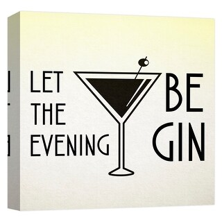"""PTM Images 9-124714  PTM Canvas Collection 12"""" x 12"""" - """"Let the Evening Begin"""" Giclee Liquor & Cocktails Art Print on Canvas"""