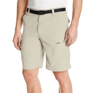 G.H. Bass & Co. NEW Beige Men's Size 32 UPF30 Belted Cargo Shorts