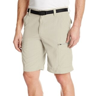 G.H. Bass & Co. NEW Beige Men's Size 36 UPF30 Belted Cargo Shorts