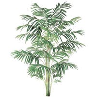 10' Tropical Decorative Artificial Areca Palm Tree - Green
