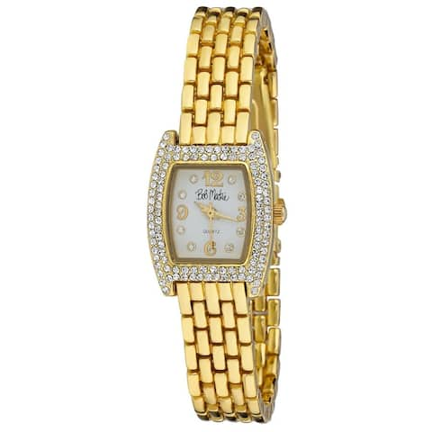 Bob Mackie Womens Rhinestone Panther Link Watch- 3 Colors Available