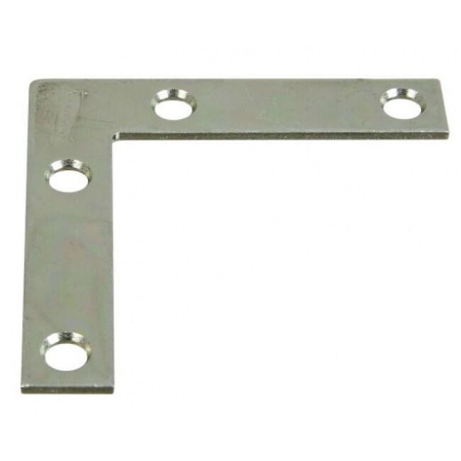 National Hardware N266-486 Flat Corner Iron, 2 x 3/8, Zinc Plated