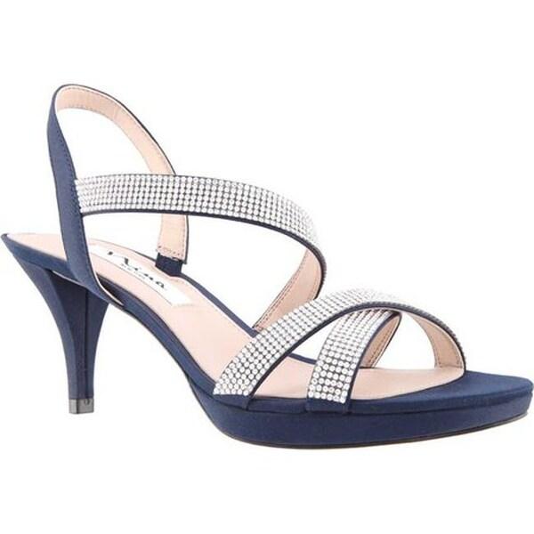9cc6db0490dc Shop Nina Women s Nizana Strappy Platform Sandal New Navy Satin ...