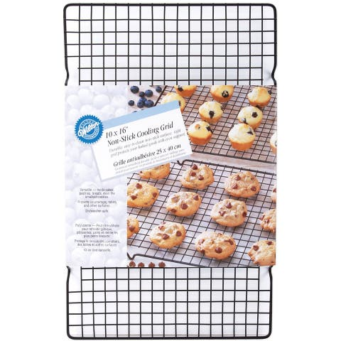 Wilton Nonstick Cooling Baking Rack Grid, Black, 10x16 Inches - Black
