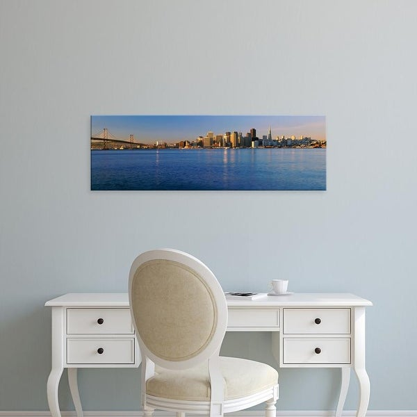 Easy Art Prints Panoramic Images's 'San Francisco, California skyline' Premium Canvas Art