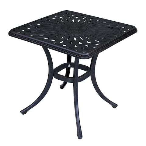 Montreal Cast Aluminum Outdoor Square End Table - 8' x 10'
