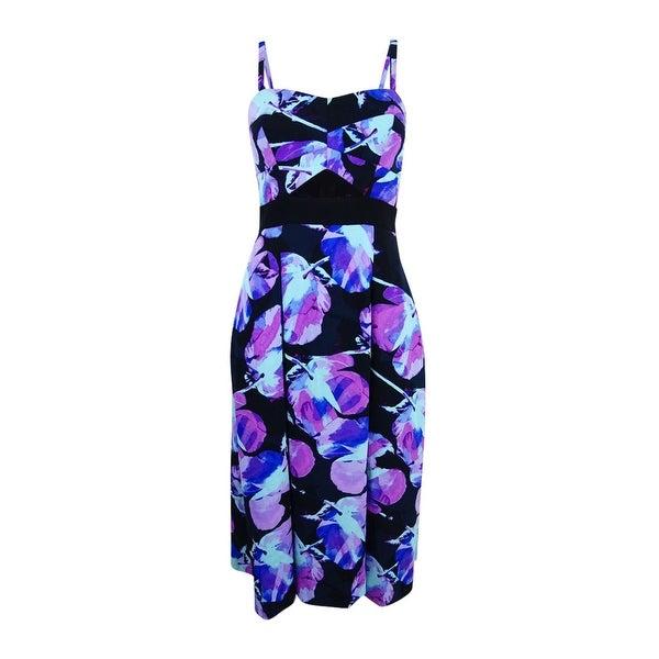Rachel Roy Women's Strapless Floral-Print Dress
