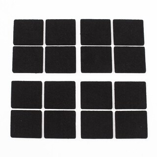 Furniture Feet Leg Antiskid Adhesive Pads Felt Floor Protector Black 16 Pcs