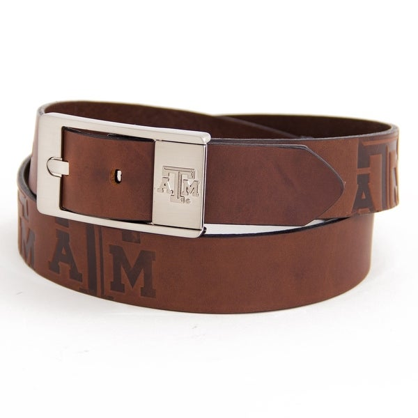 Texas A&M University Brandish Leather Belt