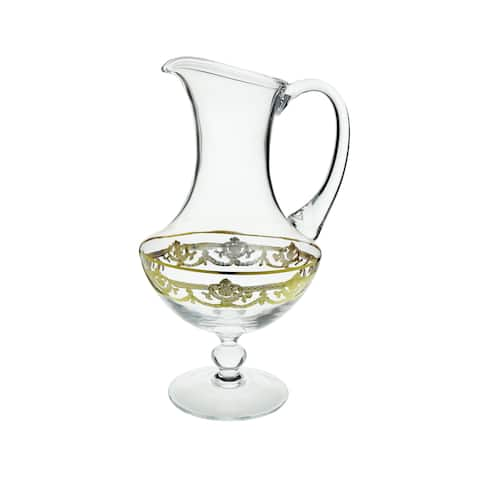 Water pitcher with 14K Gold Artwork-Traditional design