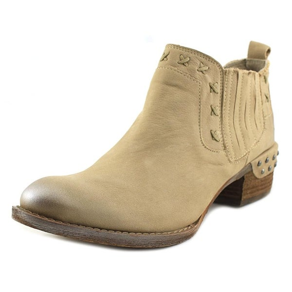 Naughty Monkey Miss M Women Pointed Toe Leather Ivory Bootie