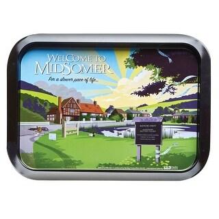 "Midsomer Murders Tea Tray - Rectangular Metal Serving Tray - 13"" x 9"""