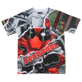 Deadpool Shirt Allover Sublimated Character Graphics T-Shirt (4 options available)