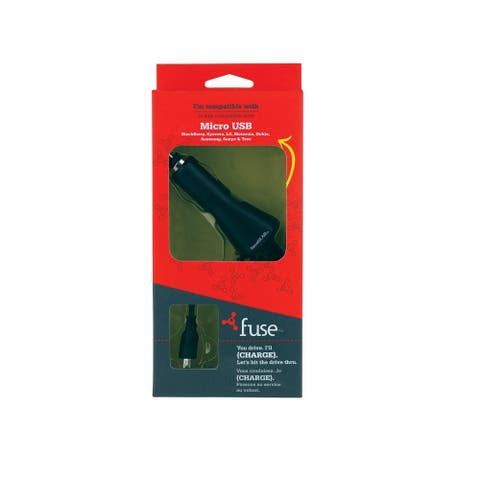 Fuse 1100 Micro USB Phone Charger, Black